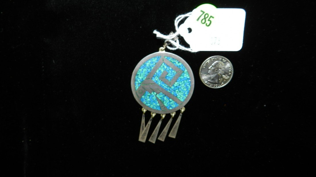 785: wonderful Native American sterling and turquoise p