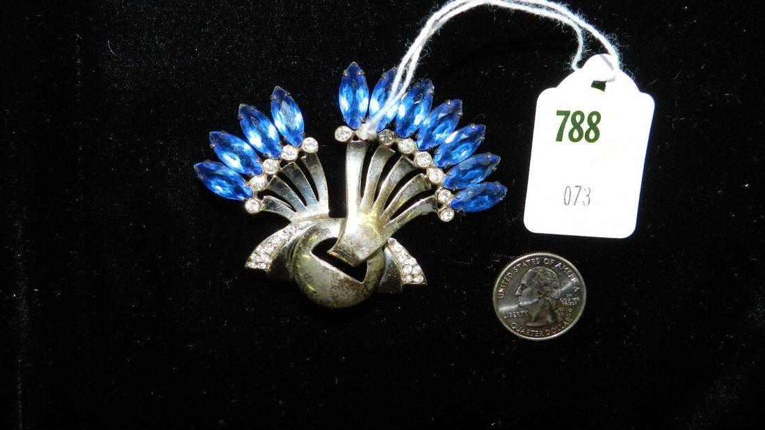 788: nice stamped sterling estate brooch