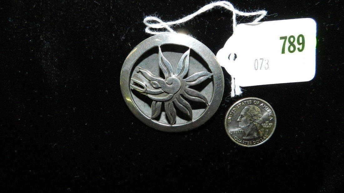 789: nice stamped sterling estate brooch