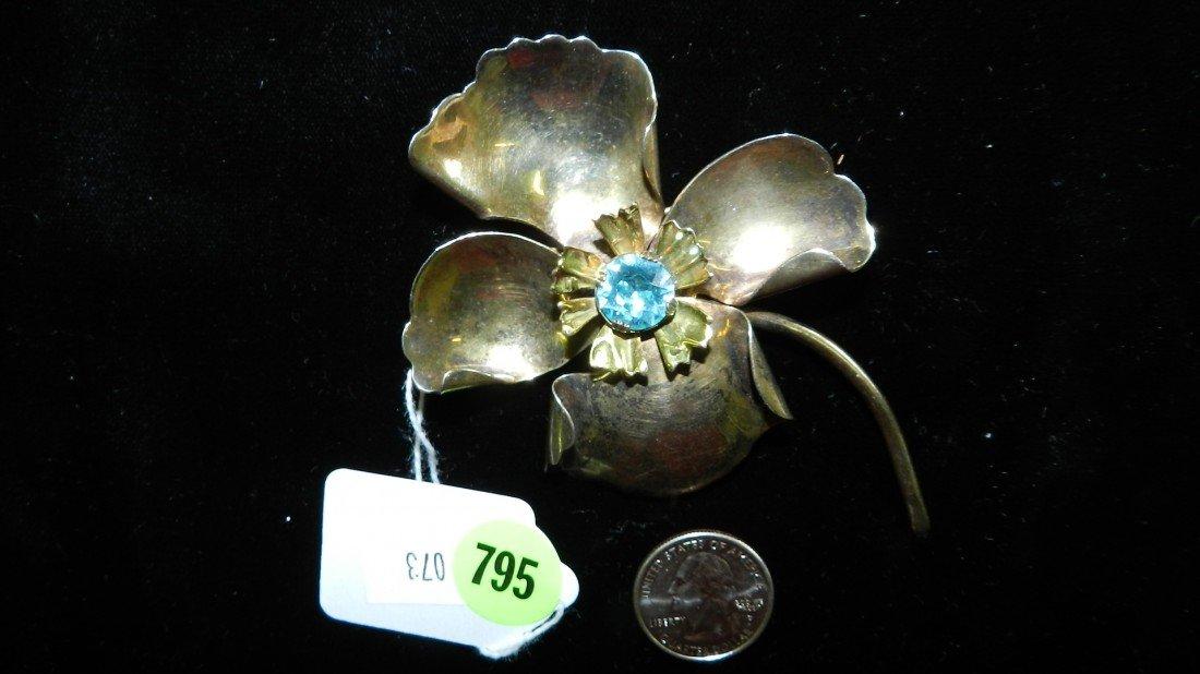 795: nice stamped sterling estate brooch