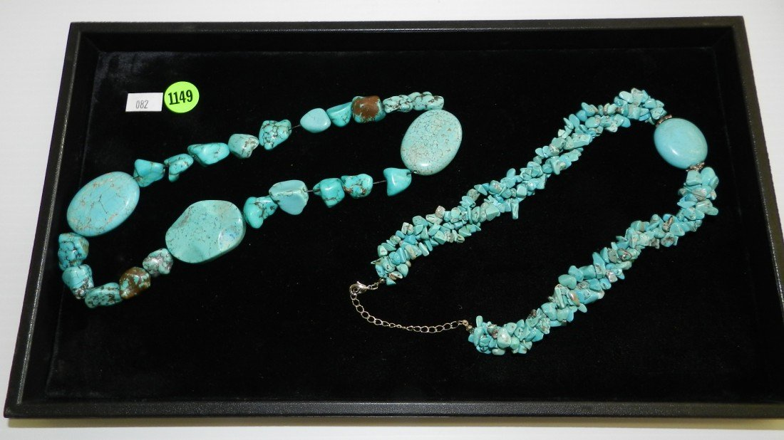 1149: tray of estate jewelry Native American turquoise