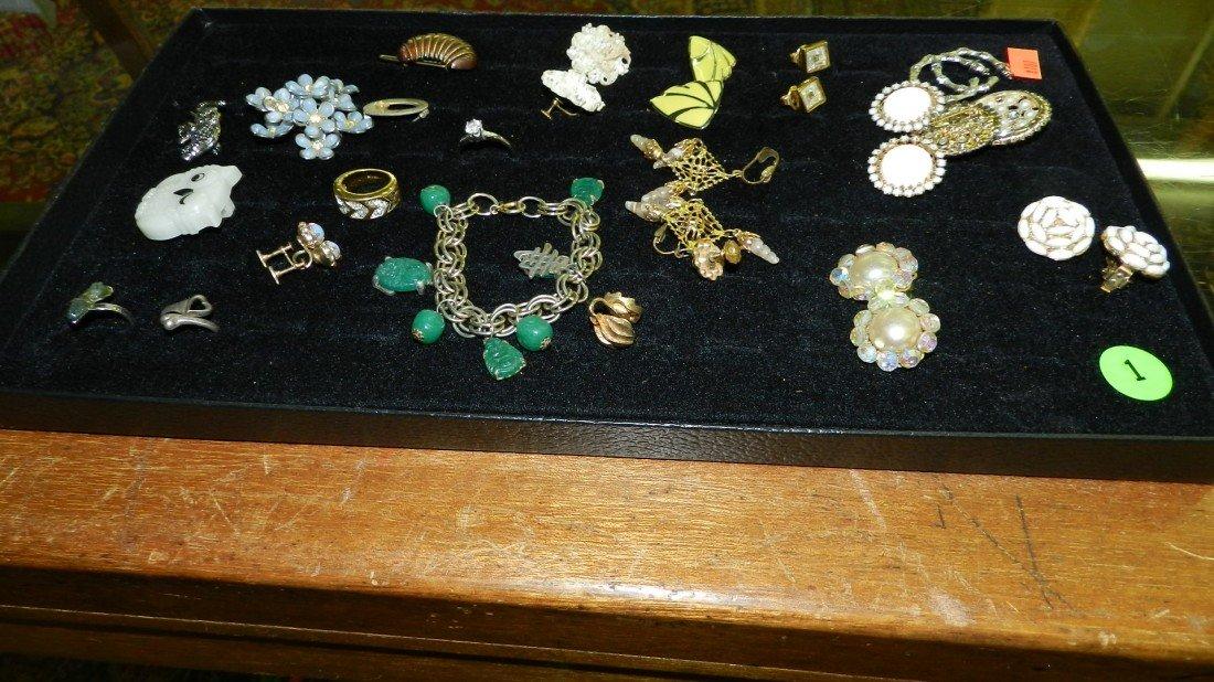 1: nice tray of estate jewelry (no tray)