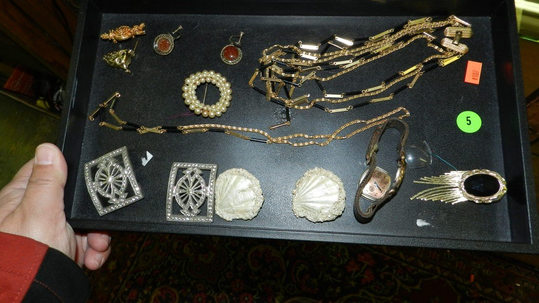 5: nice tray of estate jewelry (no tray)