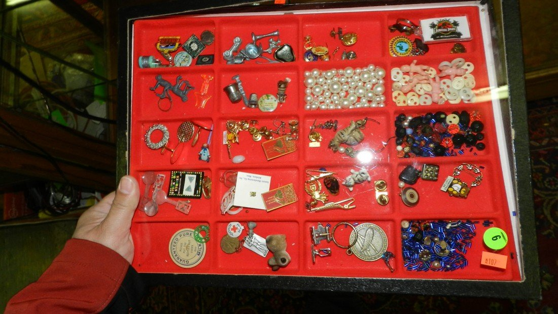 9: nice tray of estate jewelry & misc collectibles(no t