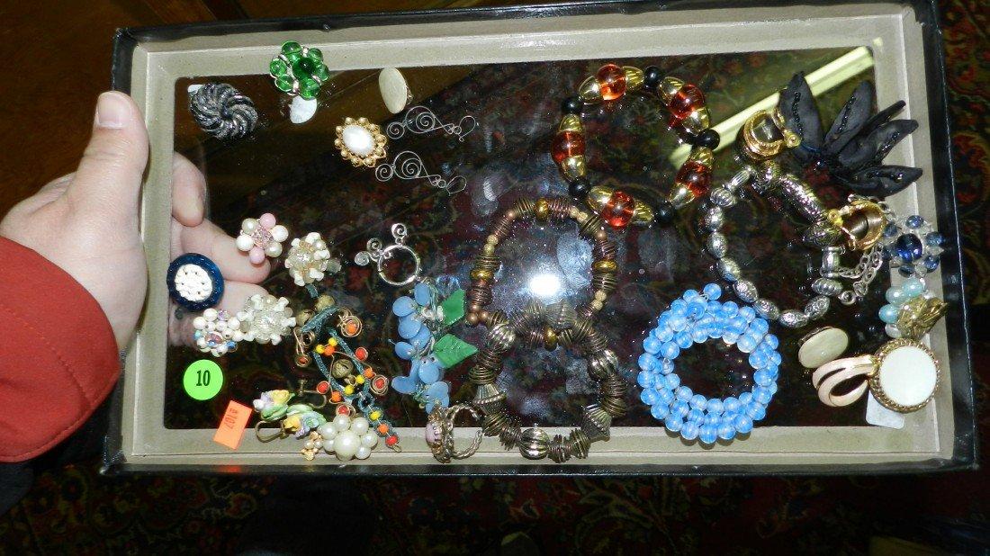 10: nice tray of estate jewelry (no tray)