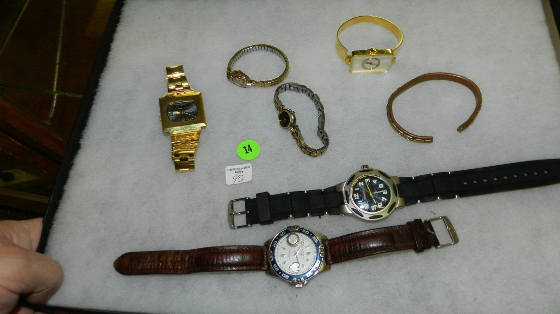 14: nice tray of estate watches (no tray)