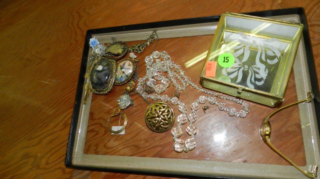 15: nice tray of estate jewelry (no tray)