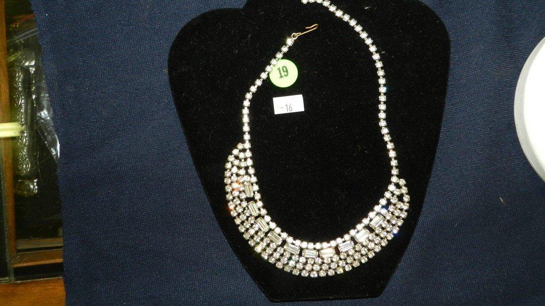 19: lovely rhinestone necklace