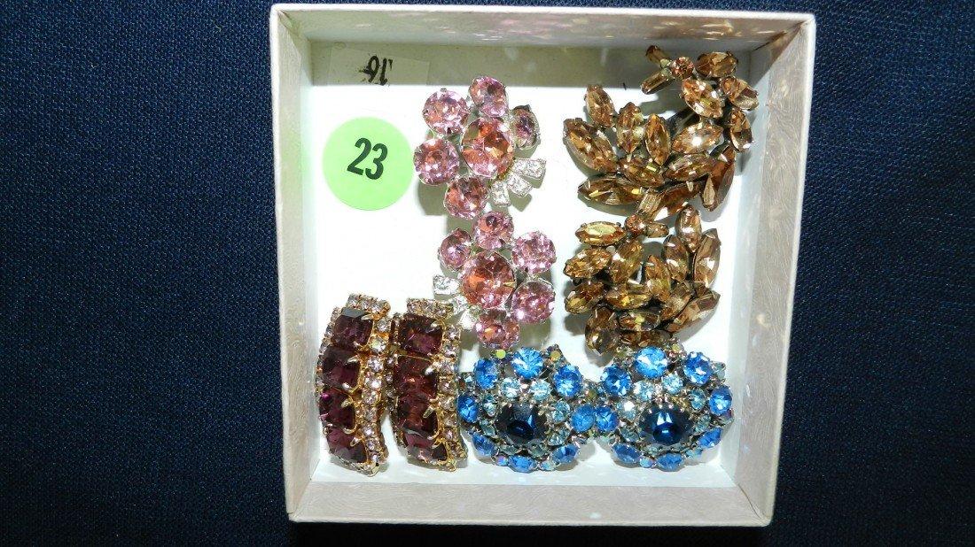 23: lovely rhinestone brooch & earrings