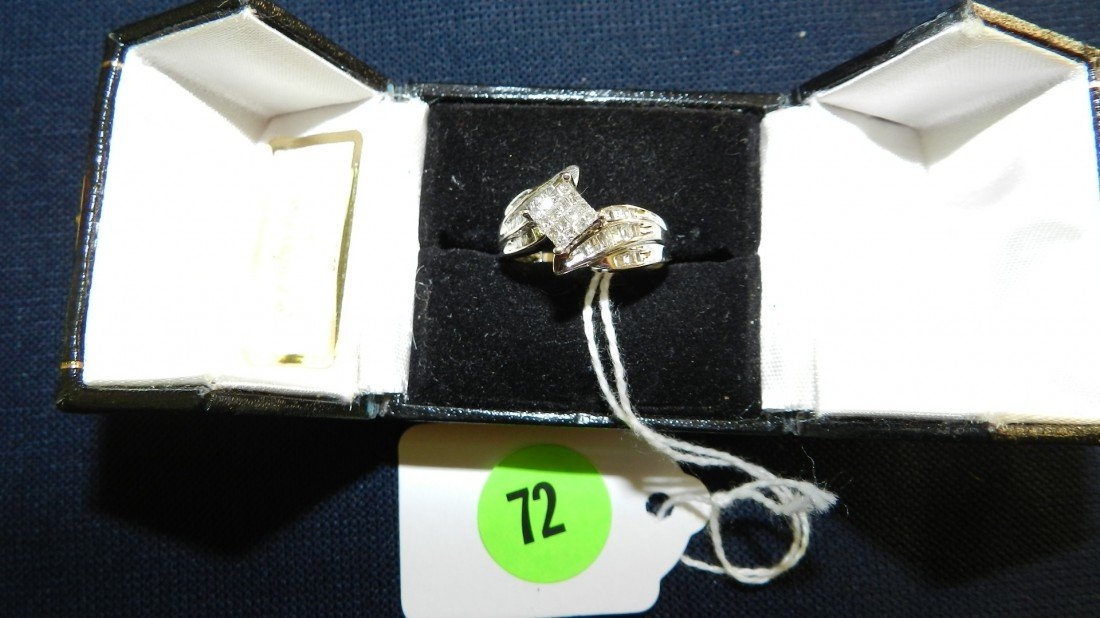 72: stunning ladies gold and diamond ring from private