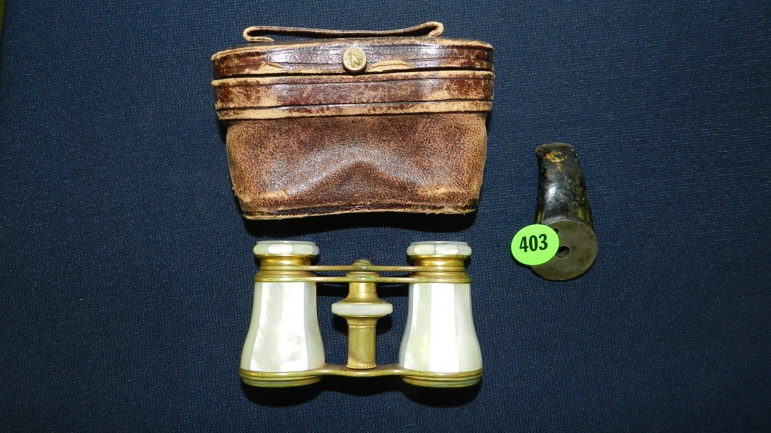 403: victorian mother of pearl Paris opera glasses with