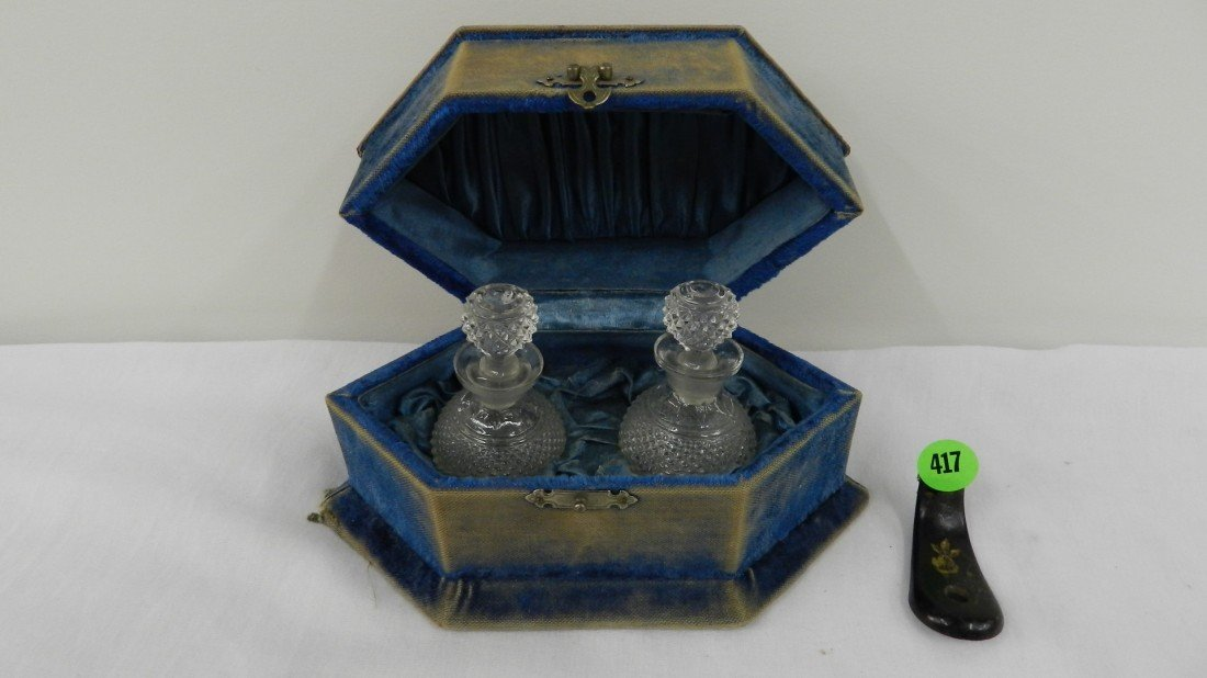 417: nice Victorian 2 fragrance /perfume /toiletry bott