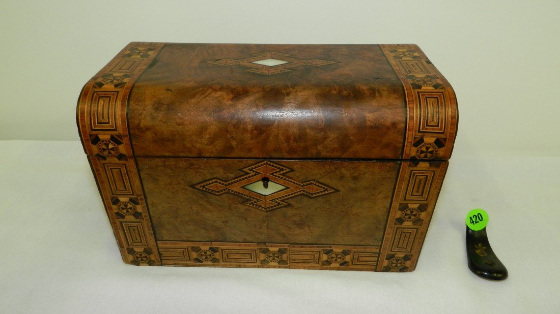 420: Stunning Antique English Tea Caddy c.1850 Made fro