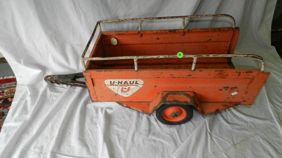 86: vintage U-Haul trailer for pedal car 1961
