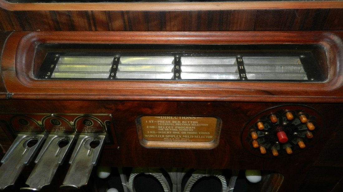 102: vintage wurlitzer jukebox model 412 c. 1936 wood c - 2