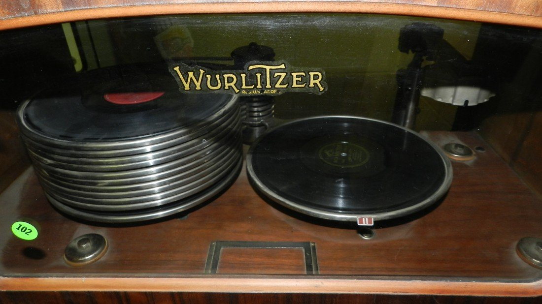 102: vintage wurlitzer jukebox model 412 c. 1936 wood c - 4