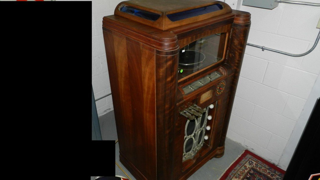 102: vintage wurlitzer jukebox model 412 c. 1936 wood c - 6