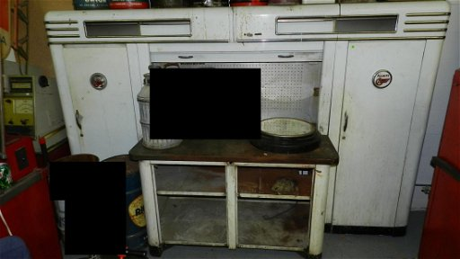 170: vintage service station Alemite Work Bench (missin