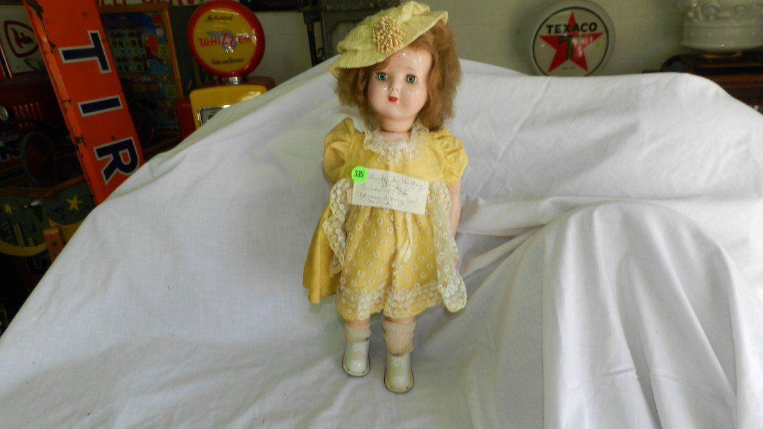 335: Vintage Wind-up Walking Wanda Doll circa 1949 Adva