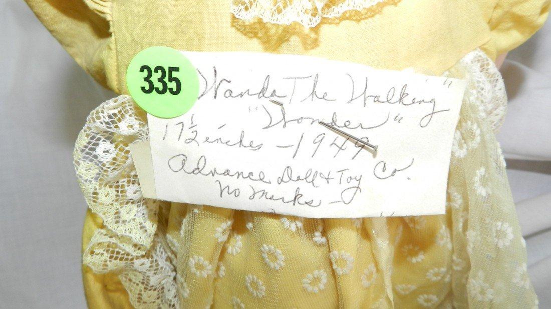 335: Vintage Wind-up Walking Wanda Doll circa 1949 Adva - 2