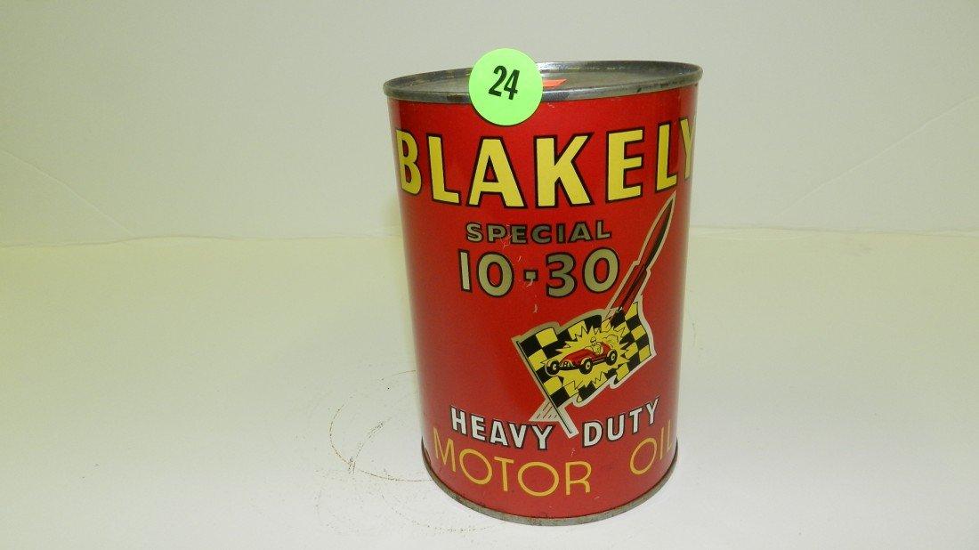 "24: vintage service station unopened oil can ""Blakely"""