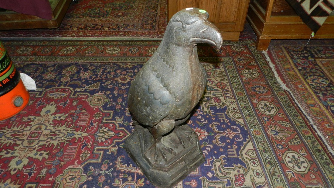 81: original cast iron White Eagle statue that stood ou