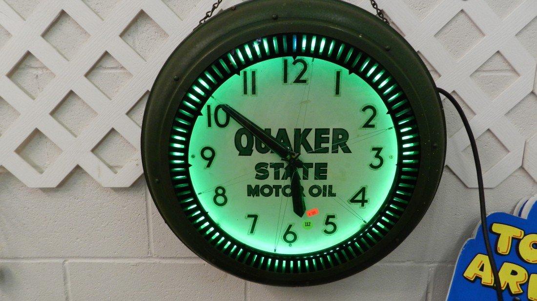 112: original service station 1940's Quaker State Oil S