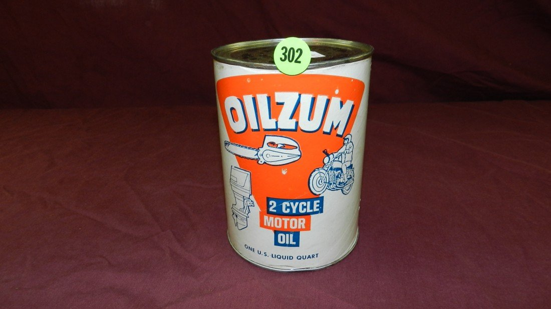 302: vintage service station collectible oil can