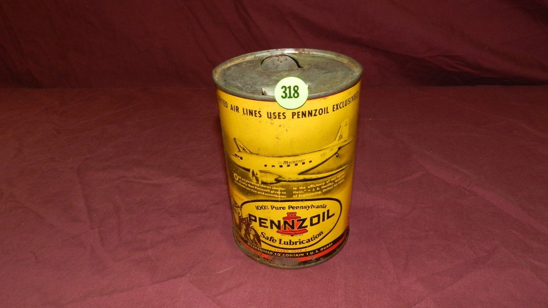 318: vintage service station collectible oil can