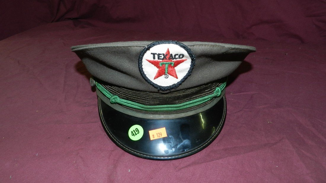 419: vintage gas station Texaco hat