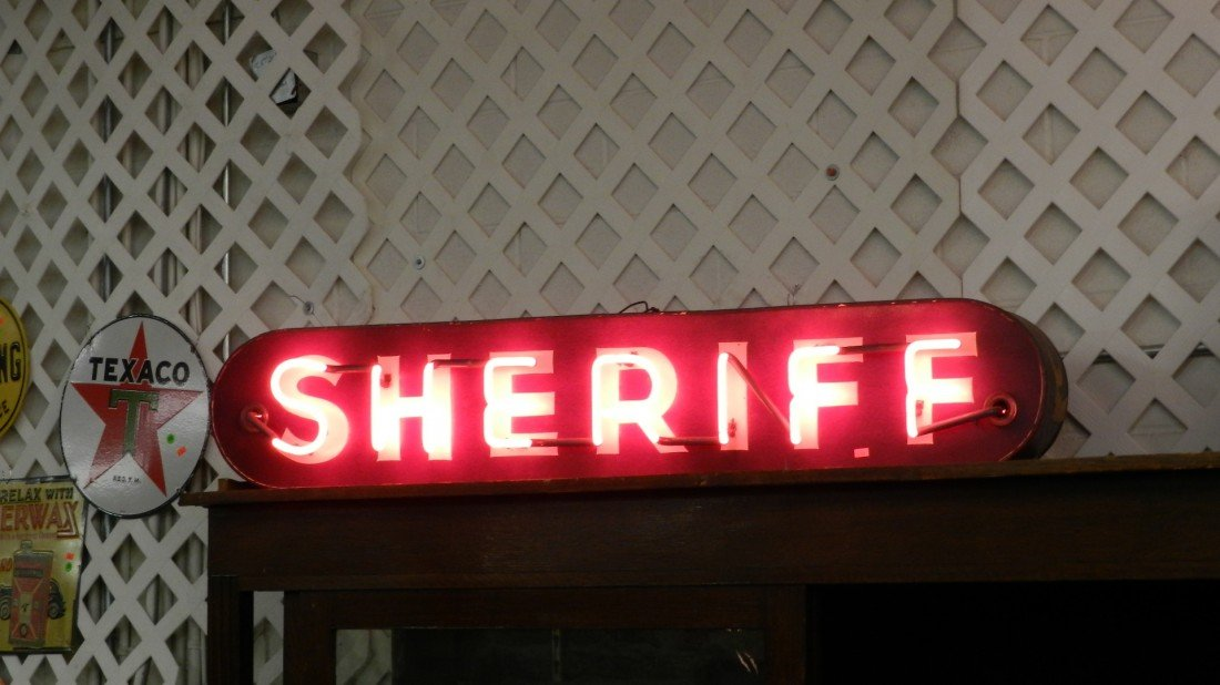 521: vintage sheriff  neon sign SSR