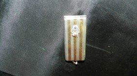 1105: antique silver Elks  calling card holder
