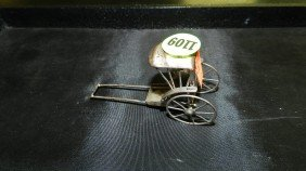 1109: small sterling asian rickshaw