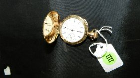 1111: wonderful antique gold (plated) pocket watch with