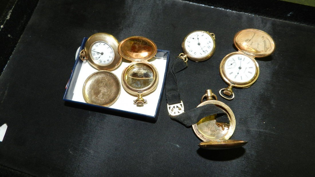 1113: wonderful collection of antique gold (plated) poc