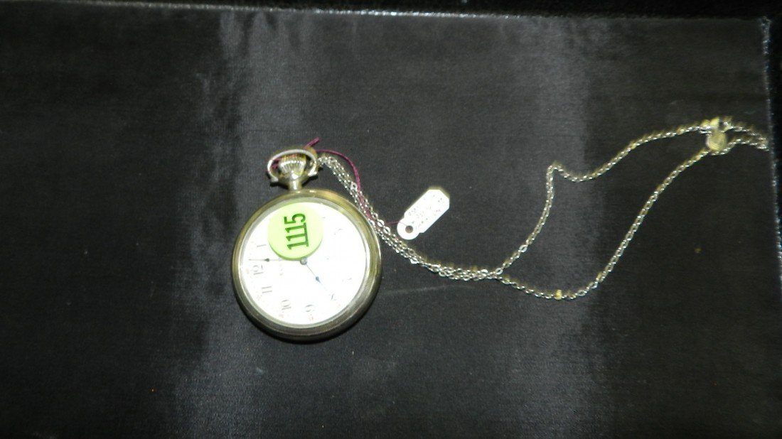 1115: wonderful antique silver cased pocket watch with