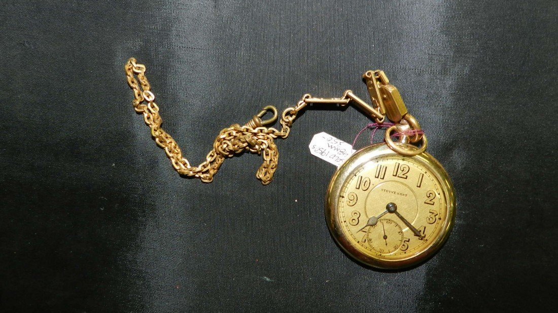 1116: wonderful antique gold (plated) pocket watch with