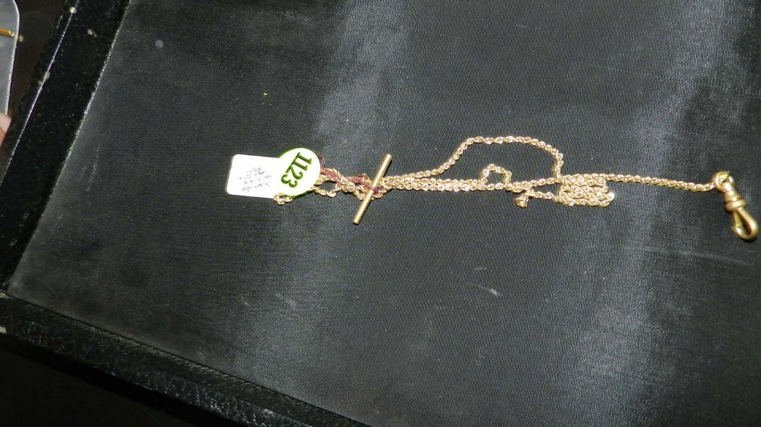 1123: antique gold plated pocket watch fob