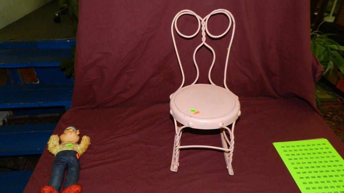 1483: vintage child's pink rocker