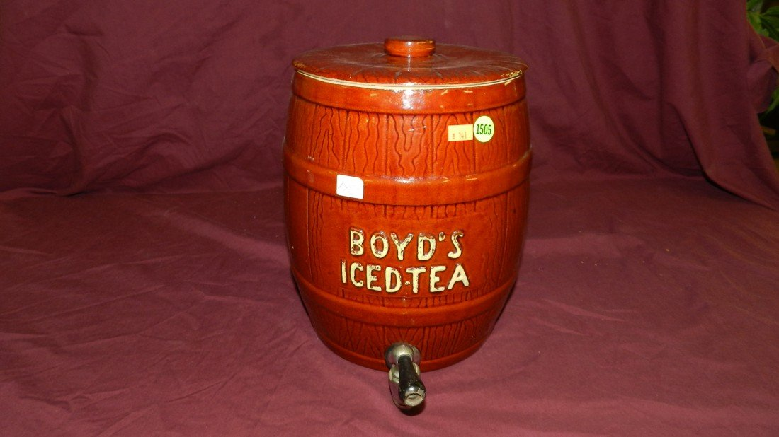 1505: Boyd's Ice Tea barrel / crock