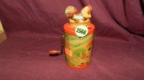 Antique Child's Tin Toy Chicken Hand Crank Toy (s