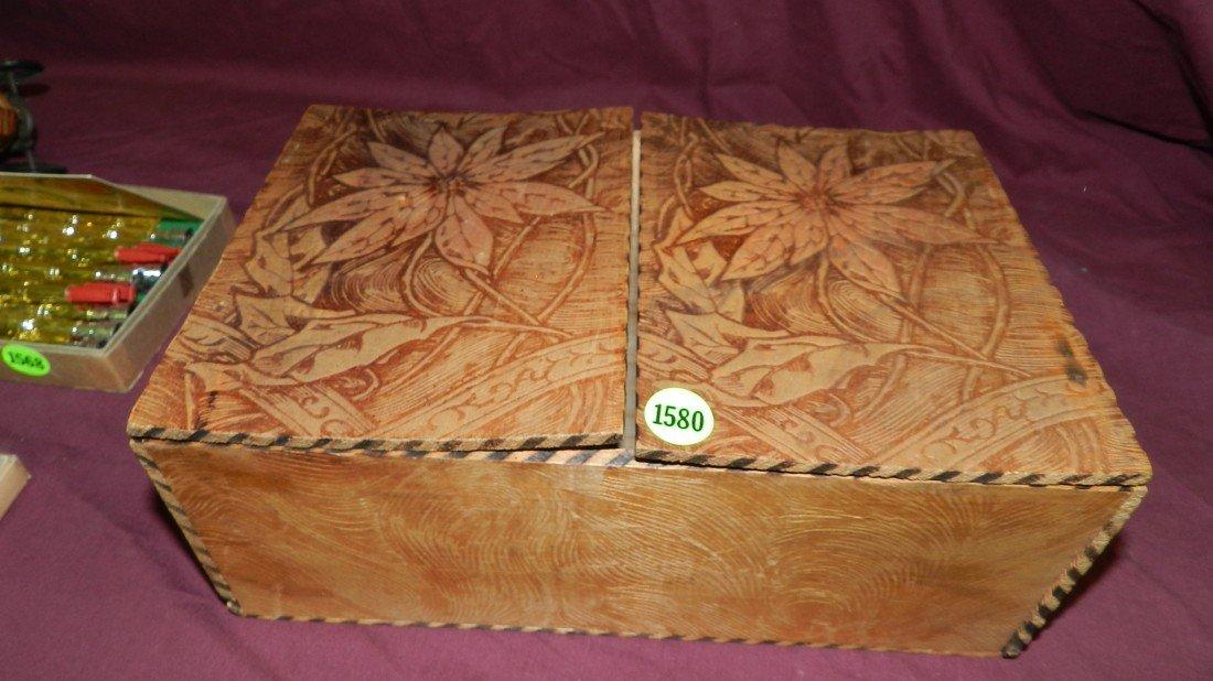 1580: flemish carved folk art box