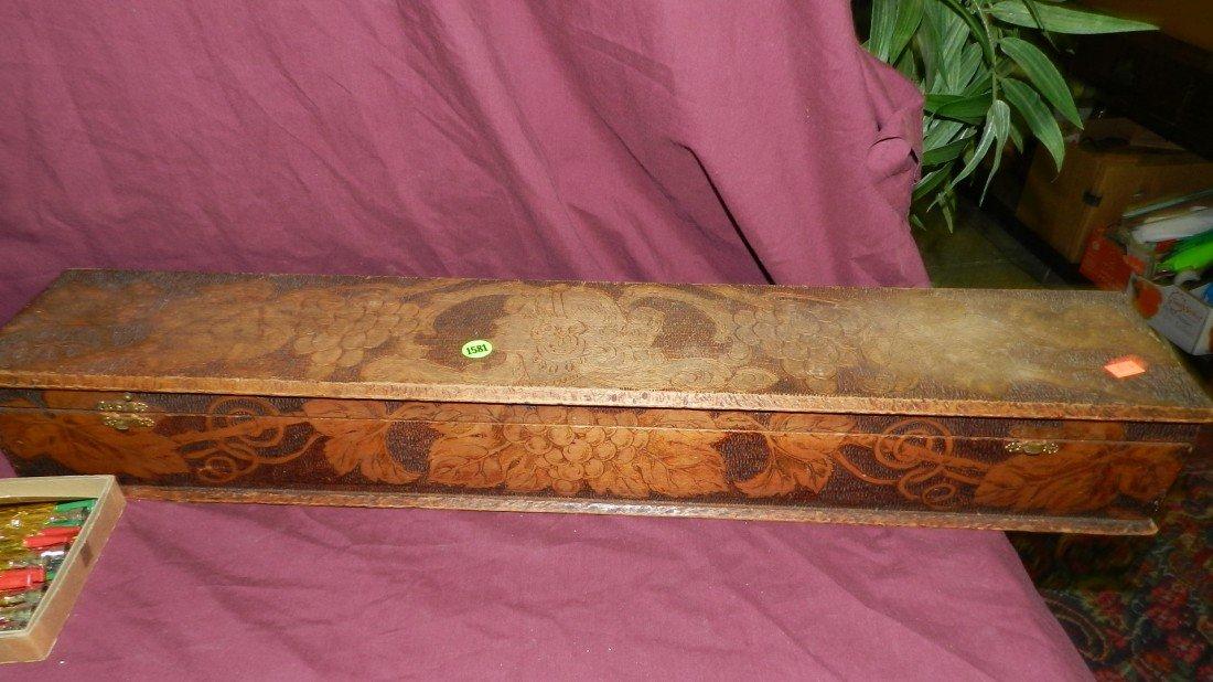 1581: long flemish carved folk art box