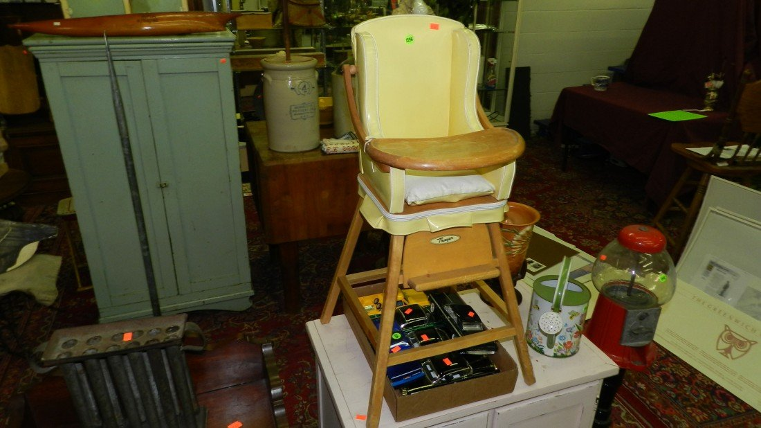 1596: deco child's high chair (for display only)