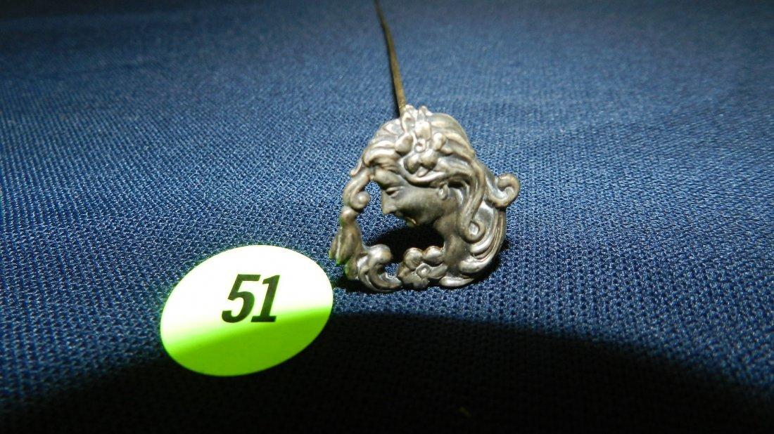 51: original antique ladies hat pin from lifetime colle