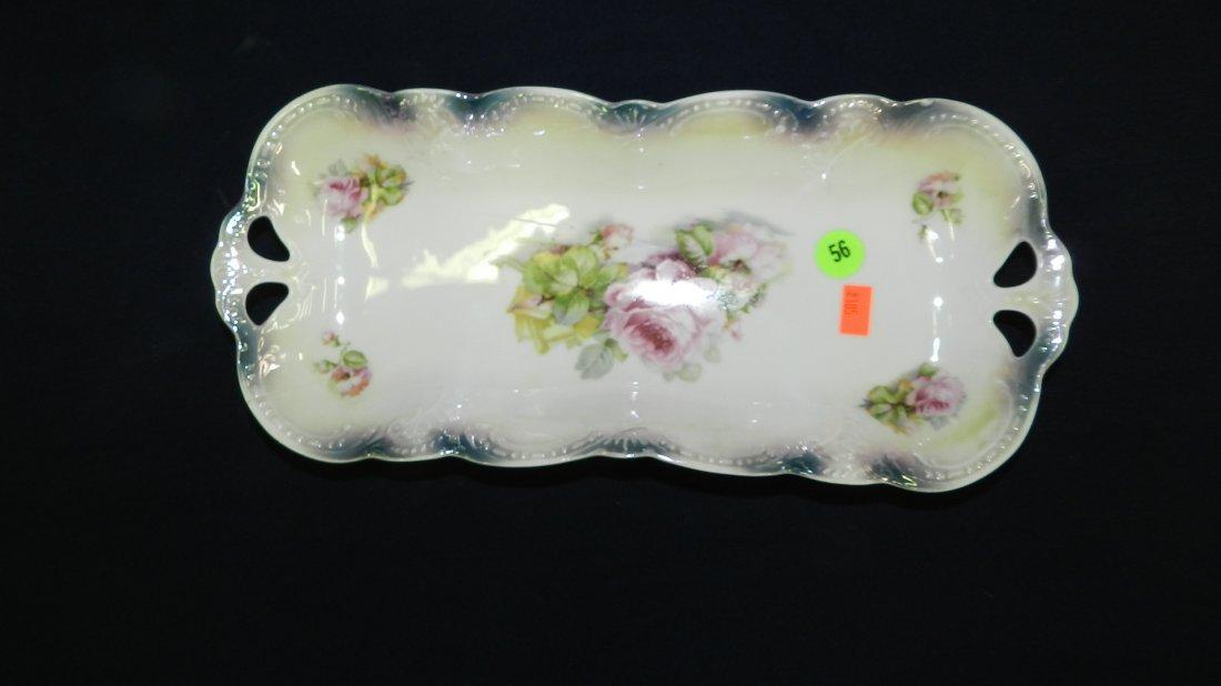 56: german porcelain silesia porcelain dresser tray