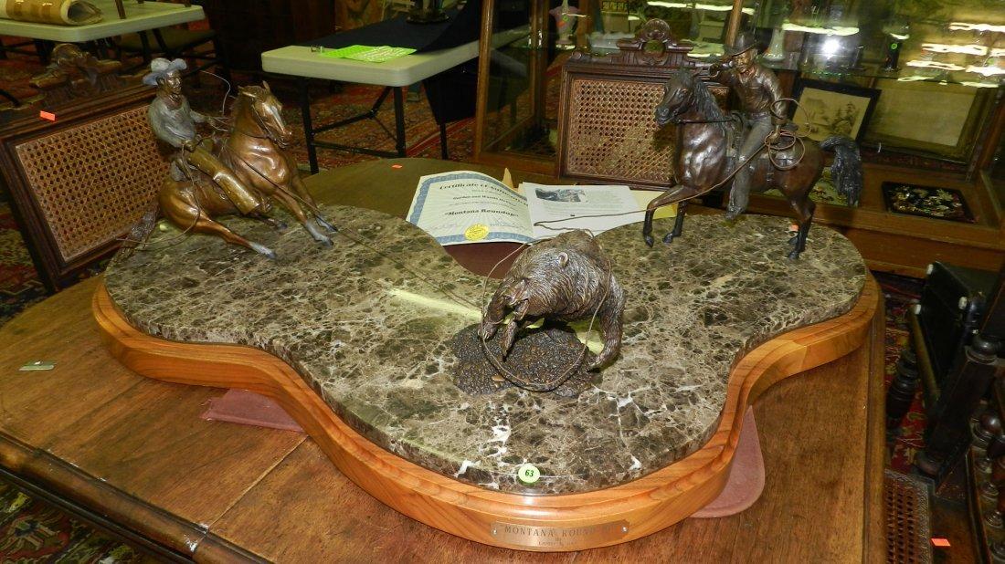 63: amazing American made local artist bronze sculpture