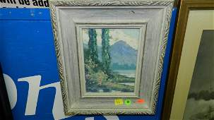 98: vintage oil painting by listed artist Ben Larsen (P