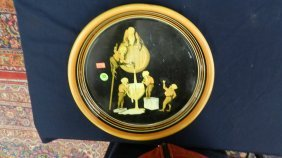371: vintage beer tray with gnomes