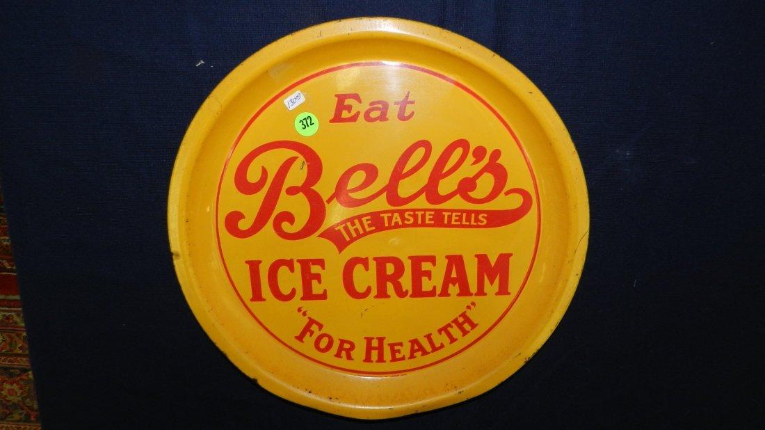 372: vintage ice cream advertising tray